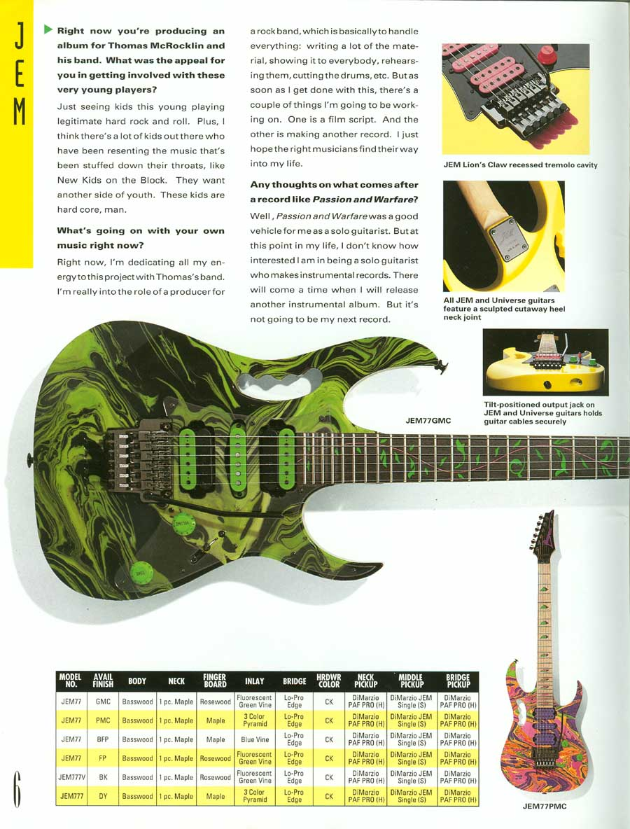 ibanez re-releasing the floral jem guitar  - Guitar Discussions on